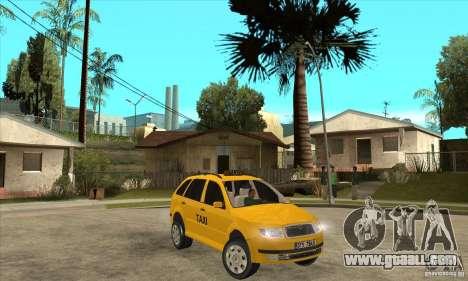 Skoda Fabia Combi Taxi for GTA San Andreas back view