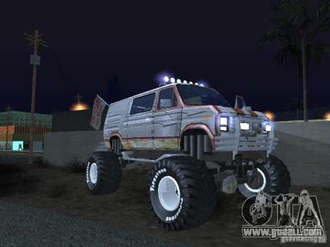 Ford Grave Digger for GTA San Andreas back view