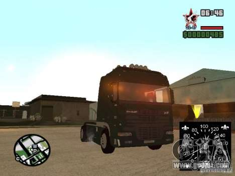 DAF XF for GTA San Andreas back left view