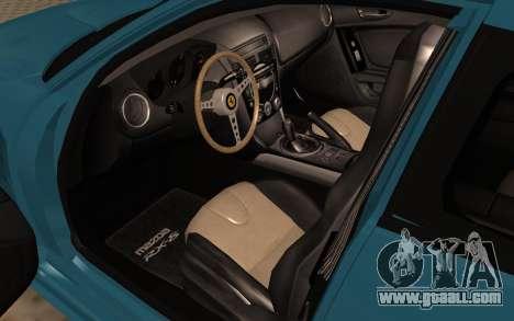 Mazda RX8 VIP for GTA San Andreas back view