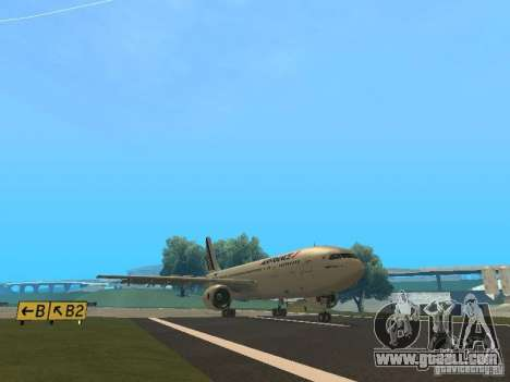 Airbus A300-600 Air France for GTA San Andreas back left view