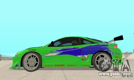 Mitsubishi Eclipse FnF for GTA San Andreas back left view