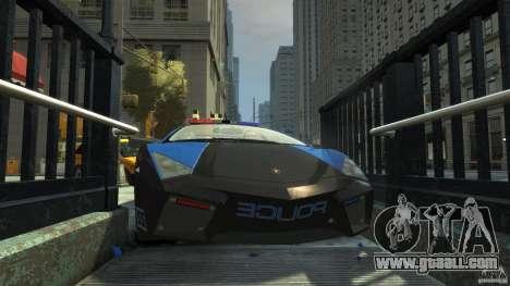 Lamborghini Reventon Police Hot Pursuit for GTA 4 bottom view