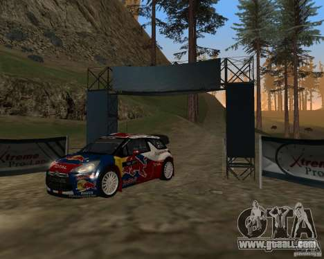 Citroen DS3 WRC for GTA San Andreas left view