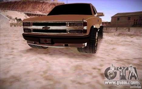 Chevrolet Silverado 3500 for GTA San Andreas right view