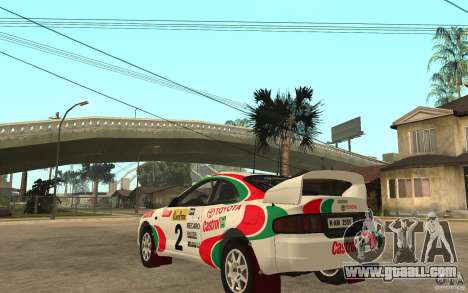 Toyota Celica GT4 DiRT for GTA San Andreas back left view
