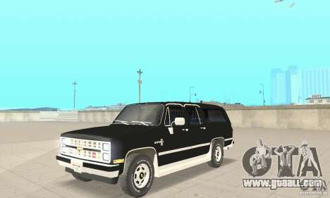 Chevrolet Suburban FBI 1986 for GTA San Andreas