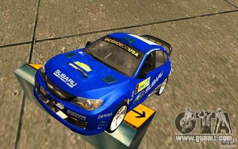 New vinyl to Subaru Impreza WRX STi for GTA San Andreas
