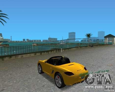 Porsche Boxster 2010 for GTA Vice City right view