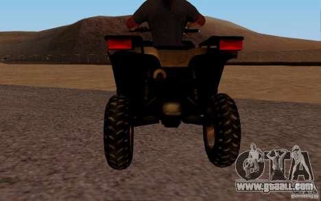 Quadbike from BF 3 for GTA San Andreas right view