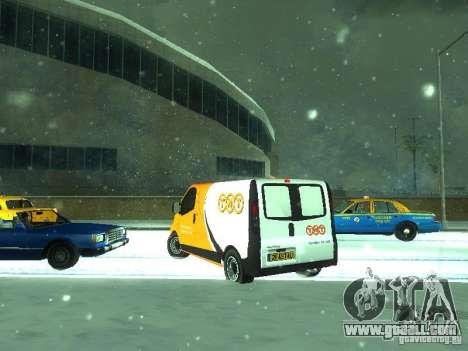 Vauxhall Vivaro v1.1 TNT for GTA San Andreas back left view