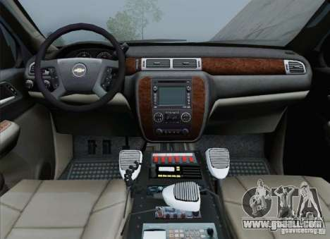 Chevrolet Suburban EMS Supervisor 862 for GTA San Andreas interior