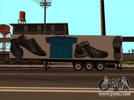 Trailer Adidas for GTA San Andreas left view