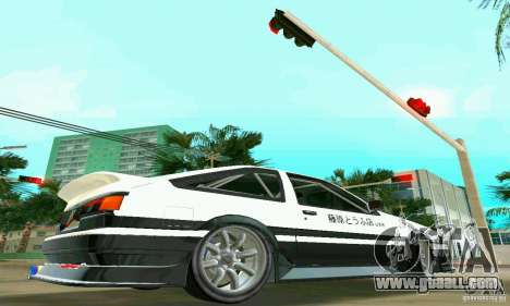 Toyota Trueno AE86 4type for GTA Vice City right view