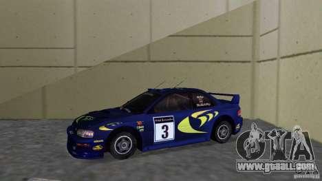 Subaru Impreza 22B Rally Edition for GTA Vice City left view