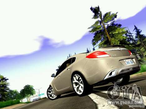 Opel Insignia for GTA San Andreas back view