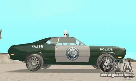 Plymouth Duster 340 Police for GTA San Andreas right view