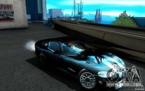 Dodge Viper GTS Coupe TT Black Revel for GTA San Andreas bottom view