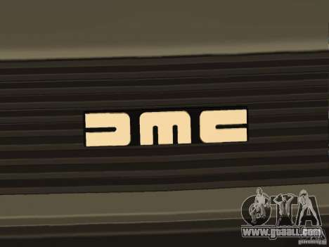 DeLorean DMC-12 for GTA San Andreas back view