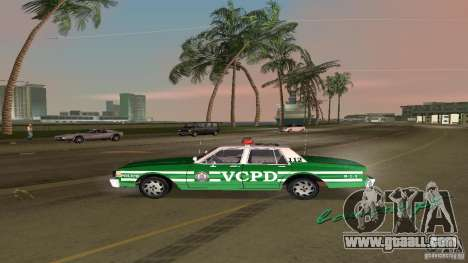 Ford LTD Crown Victoria 1985 Interceptor LAPD for GTA Vice City right view