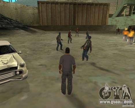 Barney homeless for GTA San Andreas second screenshot