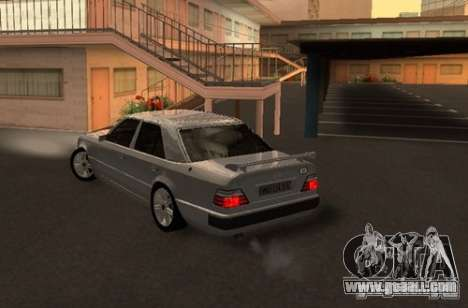Mercedes-Benz E500 Taxi 1 for GTA San Andreas back left view