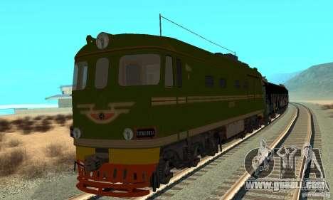 Custom Graffiti Train 1 for GTA San Andreas left view