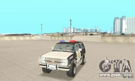 Chevrolet Blazer Sheriff Edition for GTA San Andreas left view