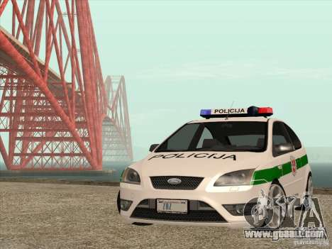 Ford Focus ST Policija for GTA San Andreas side view