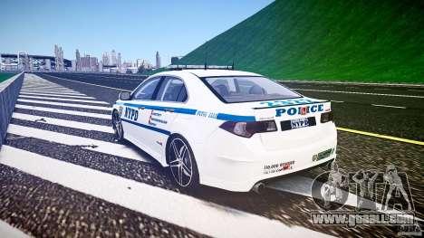 Honda Accord Type R NYPD (City Patrol 2322) ELS for GTA 4 side view