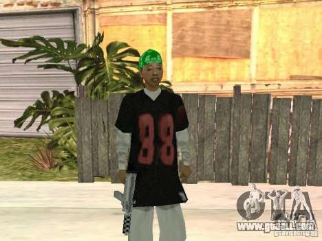 New skins the Grove Street Gang for GTA San Andreas