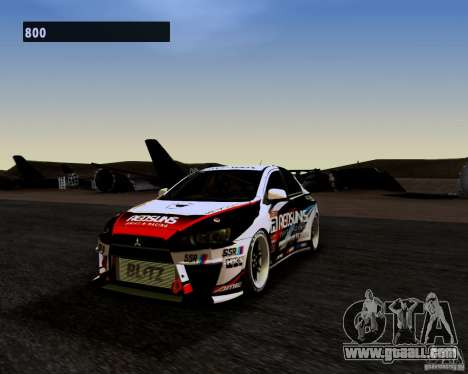 Mitsubishi Lancer Evo X 2008 for GTA San Andreas