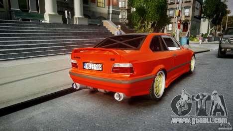 BMW E36 Alpina B8 for GTA 4 upper view