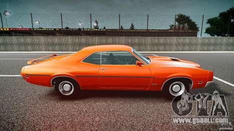 Mercury Cyclone Spoiler 1970 for GTA 4 left view