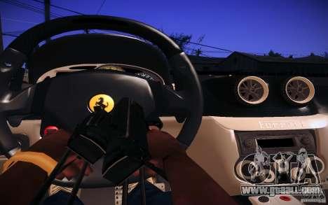 Ferrari 599 GTB Fiorano 2010 for GTA San Andreas inner view