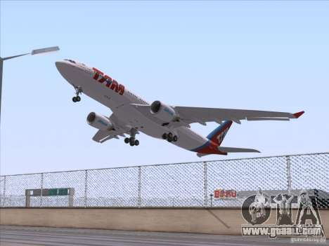 Airbus A330-223 TAM Airlines for GTA San Andreas right view