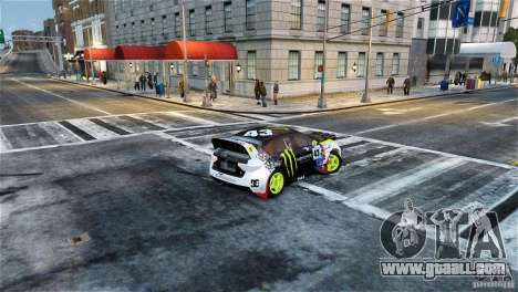 Subaru Impreza WRX STI Rallycross Monster Energy for GTA 4 left view
