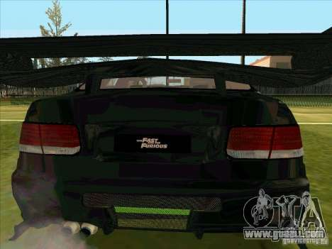 Honda Civic Coupe 1995 from FnF 1 for GTA San Andreas back view