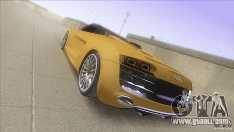 Audi R8 5.2 FSI Spider for GTA San Andreas back left view