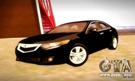 Acura TSX V6 for GTA San Andreas back view