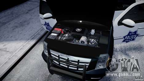 Cadillac Escalade Police V2.0 Final for GTA 4 inner view