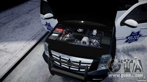 Cadillac Escalade Police V2.0 Final for GTA 4 inner view