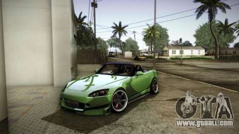 Honda S2000 HellaFlush for GTA San Andreas engine