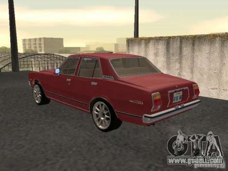 Toyota Cressida for GTA San Andreas back left view