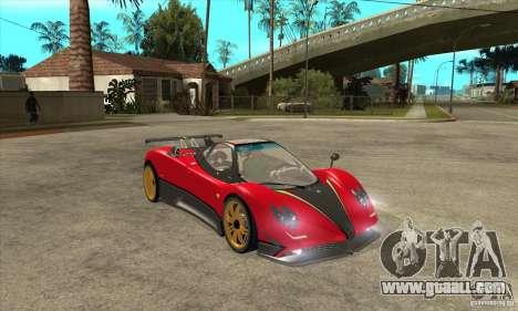 Pagani Zonda Tricolore V1 for GTA San Andreas back view