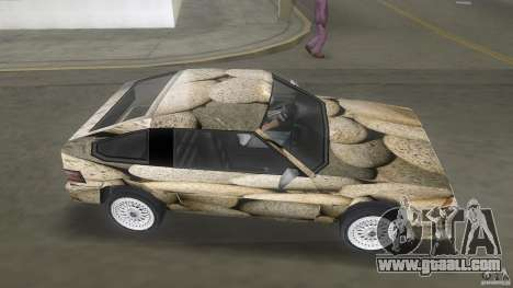 Blista rock stone stock for GTA Vice City back left view