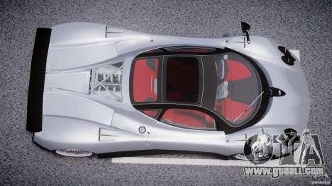 Pagani Zonda F for GTA 4 upper view