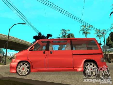 VW T4 Eurovan VR6 BiTurbo 20T for GTA San Andreas left view