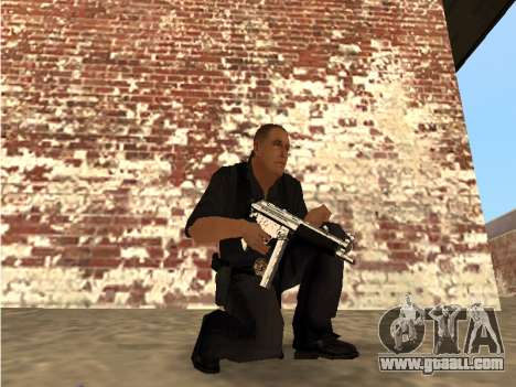 Chrome and Blue Weapons Pack for GTA San Andreas third screenshot
