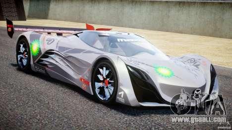 Mazda Furai Concept 2008 for GTA 4 side view